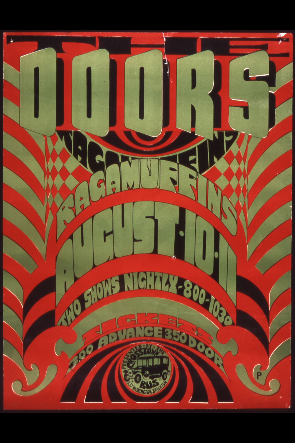 Concert Poster: The Doors and The Ragamuffins & DWB \u0026 Company: Doug Burns Calligrapher - Special Items Pezcame.Com